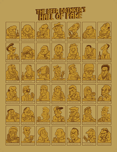 The Beer Drinker's Hall of Fame poster